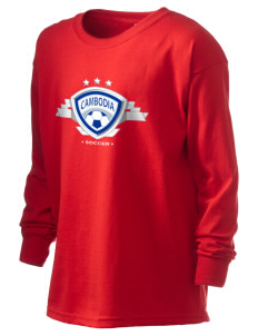 Cambodia Soccer Kid's 6.1 oz Long Sleeve Ultra Cotton T-Shirt