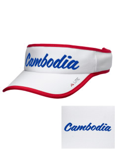 Cambodia Soccer Embroidered Lite Series Active Visor