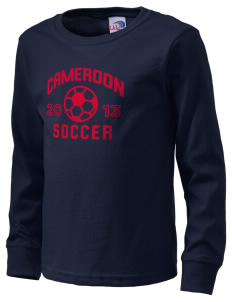 Cameroon Soccer  Kid's Long Sleeve T-Shirt