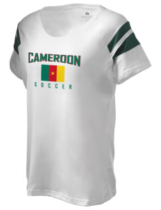 Cameroon Soccer Holloway Women's Shout Bi-Color T-Shirt