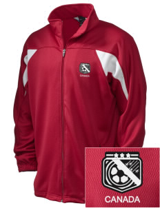 Canada Soccer Embroidered Holloway Men's Full-Zip Track Jacket