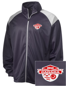 Canada Soccer Embroidered Men's Tricot Track Jacket