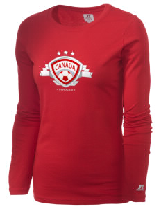 Canada Soccer  Russell Women's Long Sleeve Campus T-Shirt