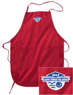 Cape Verde Islands Soccer Embroidered Full Length Apron