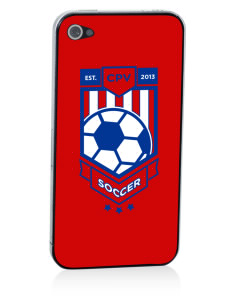Cape Verde Islands Soccer Apple iPhone 4/4S Skin