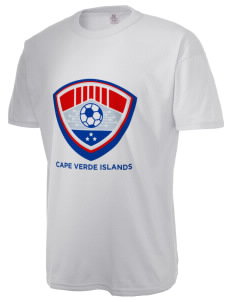 Cape Verde Islands Soccer  Russell Men's NuBlend T-Shirt