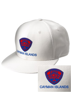 Cayman Islands Soccer  Embroidered New Era Flat Bill Snapback Cap