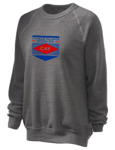 Cayman Islands Soccer Unisex Alternative Eco-Fleece Raglan Sweatshirt