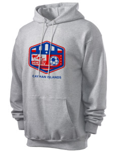 Cayman Islands Soccer Men's 7.8 oz Lightweight Hooded Sweatshirt