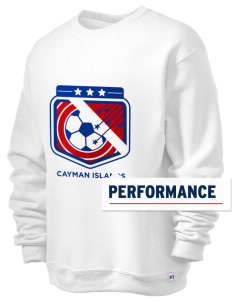 Cayman Islands Soccer  Russell Men's Dri-Power Crewneck Sweatshirt