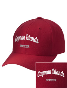 Cayman Islands Soccer Embroidered Wool Adjustable Cap
