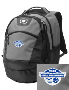 Central African Republic Soccer Embroidered OGIO Rogue Backpack