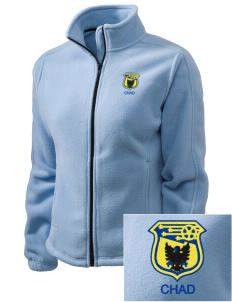 Chad Soccer Embroidered Women's Fleece Full-Zip Jacket