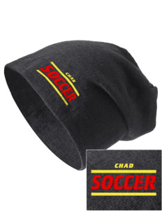 Chad Soccer Embroidered Slouch Beanie