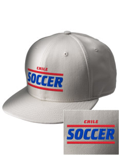 Chile Soccer  Embroidered New Era Flat Bill Snapback Cap