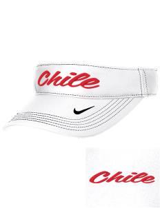 Chile Soccer Embroidered Nike Golf Dri-Fit Swoosh Visor