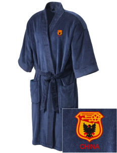China Soccer Embroidered Terry Velour Robe