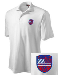 Chinese Taipei Soccer Embroidered Men's Jersey Polo