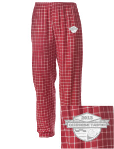 Chinese Taipei Soccer Embroidered Men's Button-Fly Collegiate Flannel Pant