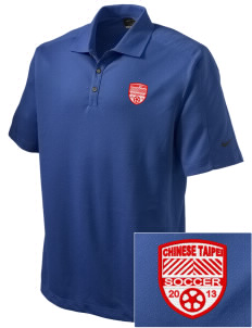 Chinese Taipei Soccer Embroidered Nike Men's Dri-FIT Pique II Golf Polo