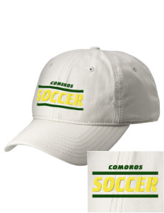 Comoros Soccer  Embroidered New Era Adjustable Unstructured Cap