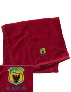 Congo DR Soccer Embroidered Beach Towel