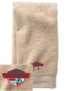 Congo DR Soccer  Embroidered Zero Twist Resort Hand Towel