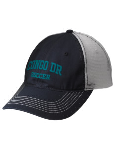 Congo DR Soccer Embroidered Mesh Back Cap