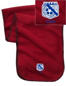 Cuba Soccer Embroidered Fleece Scarf