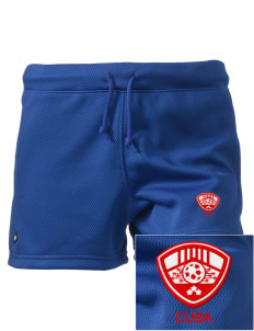 "Cuba Soccer Embroidered Holloway Women's Balance Shorts, 3"" Inseam"