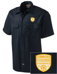 Curacao Soccer Embroidered Dickies Men's Short-Sleeve Workshirt