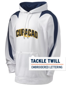 Curacao Soccer Holloway Men's Sports Fleece Hooded Sweatshirt with Tackle Twill