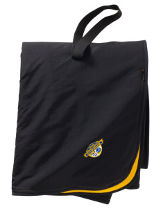Cyprus Soccer  Embroidered Fleece and Nylon Travel Blanket