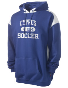 Cyprus Soccer Men's Pullover Hooded Sweatshirt with Contrast Color