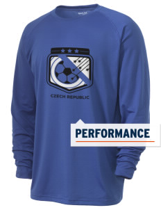 Czech Republic Soccer Men's Ultimate Performance Long Sleeve T-Shirt