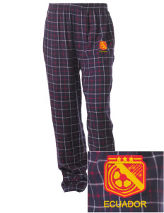 Ecuador Soccer Embroidered Unisex Button-Fly Collegiate Flannel Pant