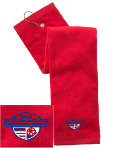 Equatorial Guinea Soccer Embroidered Hand Towel with Grommet