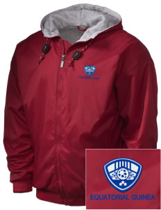 Equatorial Guinea Soccer Embroidered Holloway Men's Hooded Jacket