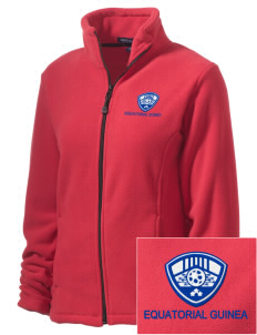 Equatorial Guinea Soccer Embroidered Women's Wintercept Fleece Full-Zip Jacket