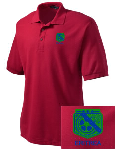 Eritrea Soccer Embroidered Men's Silk Touch Polo