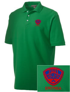 Eritrea Soccer Embroidered Men's Performance Plus Pique Polo
