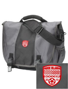 Faroe Islands Soccer  Embroidered Montezuma Messenger Bag