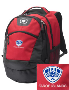 Faroe Islands Soccer Embroidered OGIO Rogue Backpack