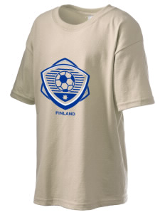 Finland Soccer Kid's 6.1 oz Ultra Cotton T-Shirt