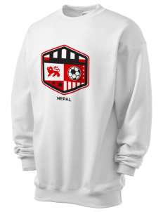 Nepal Soccer Men's 7.8 oz Lightweight Crewneck Sweatshirt