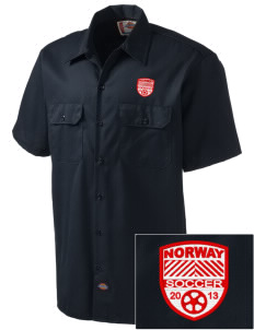Norway Soccer Embroidered Dickies Men's Short-Sleeve Workshirt