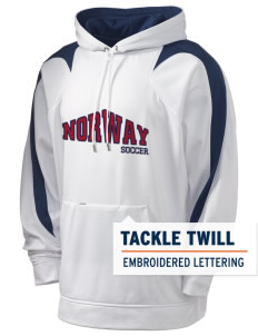 Norway Soccer Holloway Men's Sports Fleece Hooded Sweatshirt with Tackle Twill