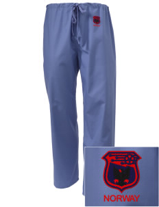 Norway Soccer Embroidered Scrub Pants