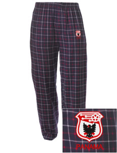 Panama Soccer Embroidered Men's Button-Fly Collegiate Flannel Pant