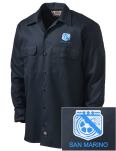 San Marino Soccer Embroidered Dickies Men's Long-Sleeve Workshirt